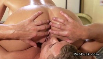 Hunk is pounding chick after getting wet blowjob